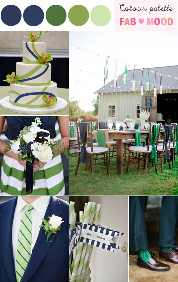 Planning Green and navy blue wedding colour theme, Fab Mood has tons of inspiring outdoor wedding photos and blue wedding color theme,blue wedding ideas