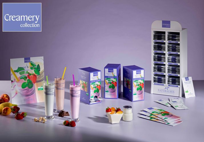 Remaining stock Specialoffer NaturalMix Milkshake ΦΡΑΟΥΛΑ | Προσθήκη Κριτικής  Τιμή πώλησης (Συμπεριλαμβανομένου Φπα):  Specialprice    €.  15,-- Reg.Price  €  29,27   Frappè & Yogurt in 10 delicious flavors  1 Package: 30 p of 25 gr.  A new line of Milkshakes and Yogurt without hydrogenated fats and without artificial colours. They're prepared with fresh milk and they're destined to selected bars and cafè.   Advertisement for free