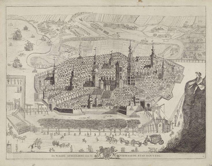 Gezicht op Gdansk, Hendrik Donnet, 1785