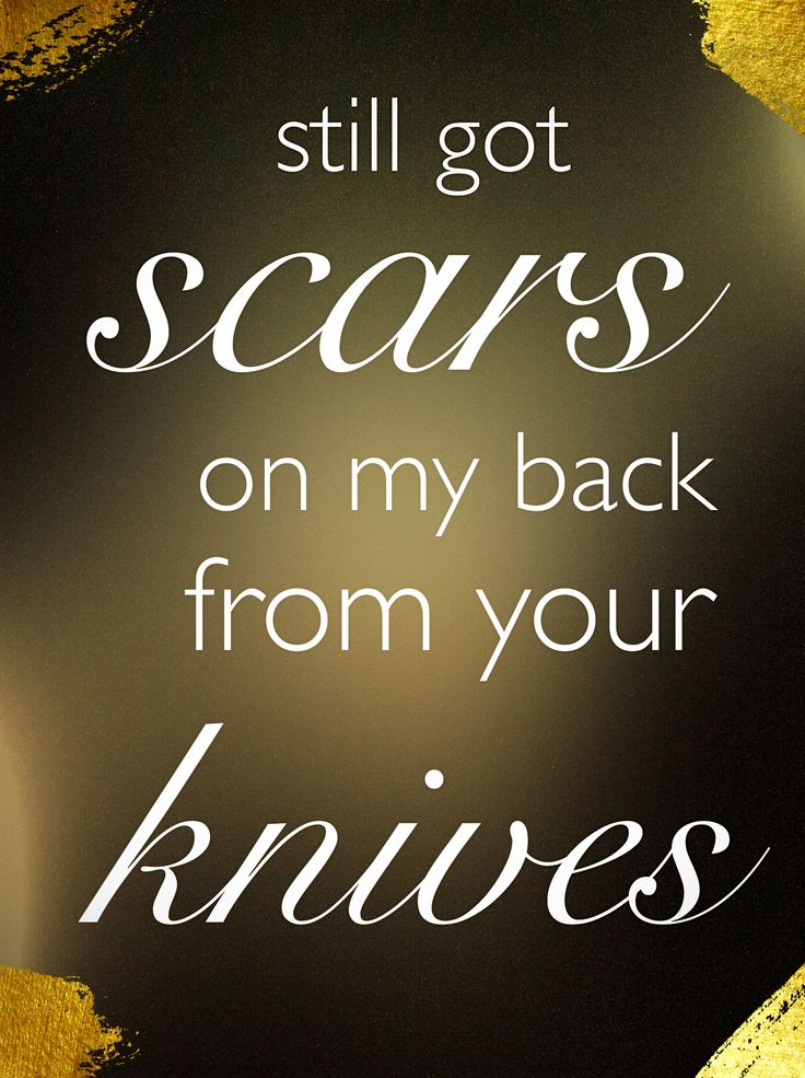 The thing about scars is, eventually they start to fade!  This song  perfectly describes our situation