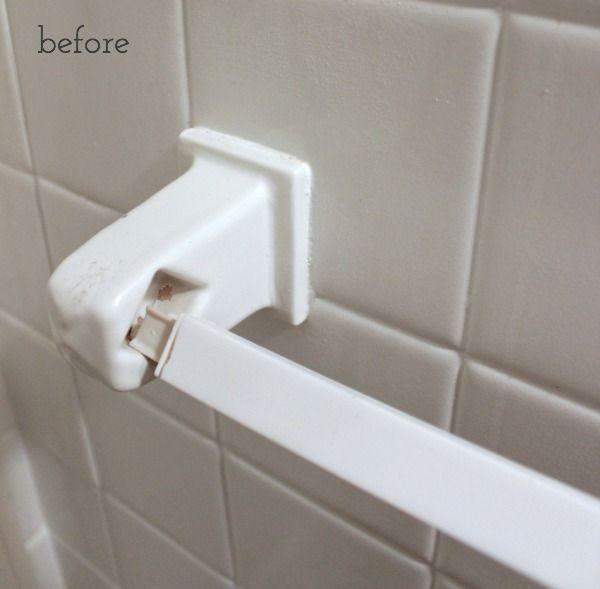 Best 25 Bathroom Towel Bars Ideas On Pinterest Hanging Bathroom Towels Towel Hooks And