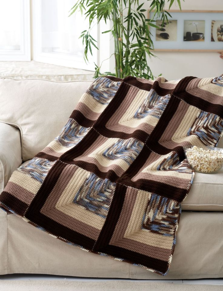 Mitered-original-stylesidea-Square- Afghan                                                                                                                                                                                 More