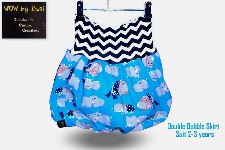 Handmade by WOW By Dani Double Bubble Skirt made using the MBJM pattern.
