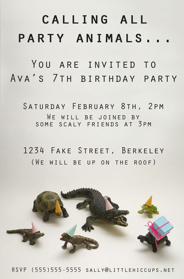 Little Hiccups: Calling All Party Animals... Mage and used digital picture as invite!!!