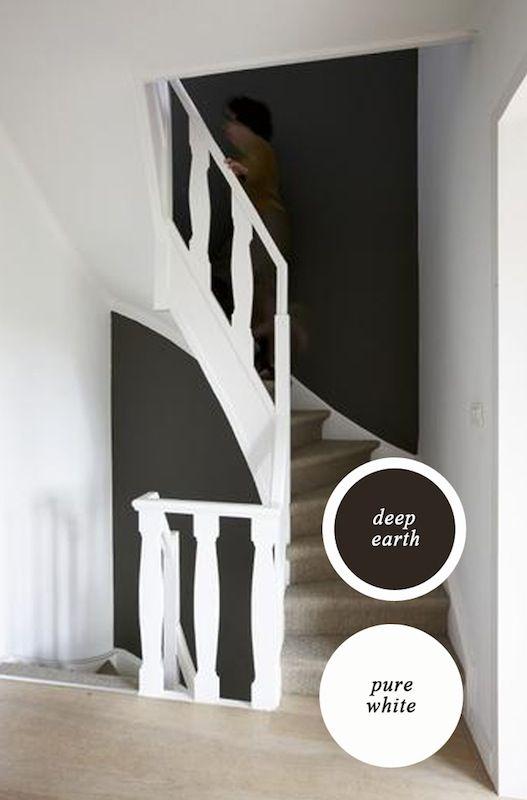 Contrasten trekken de aandacht en dat mag best met een mooie trap.