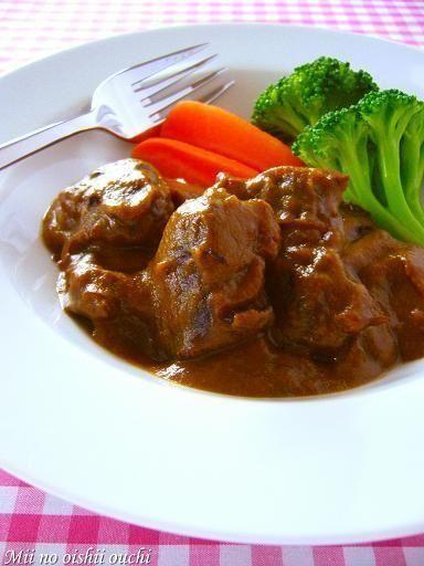 牛すね肉の赤ワイン煮♪ル・クルーゼでじっくりゆっくり煮込み料理 ...