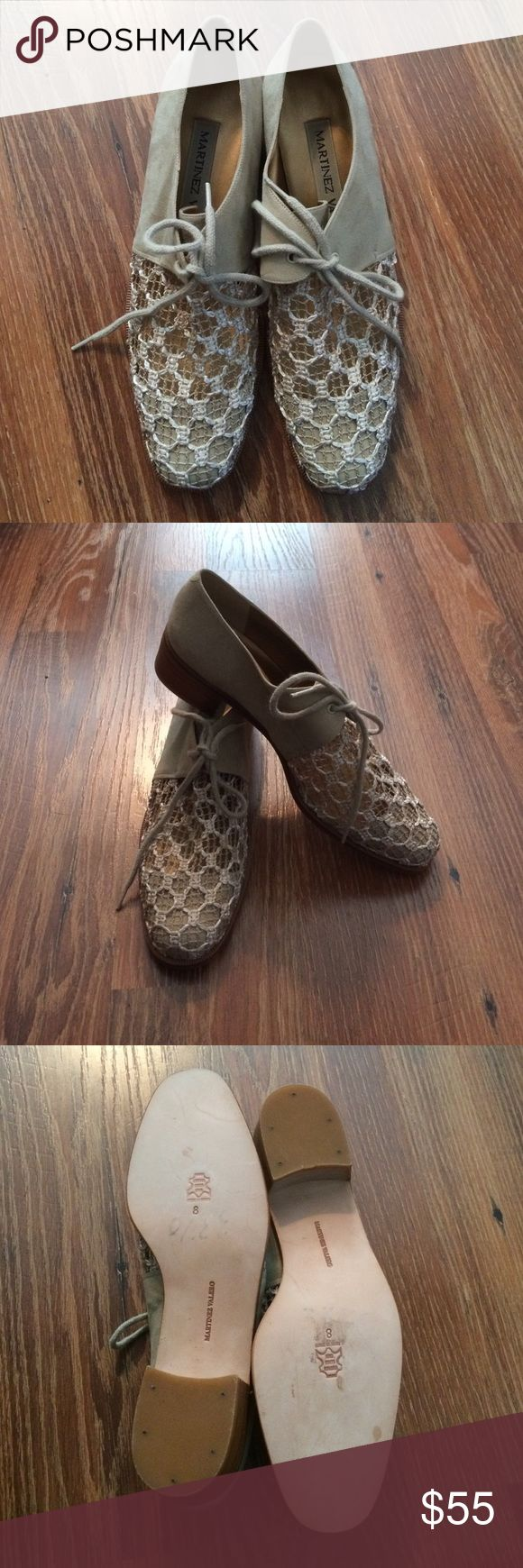 Martinez Valero Lace Oxfords These are gorgeous new never worn Martinez Valero lace and suede oxfords.  Made in Spain.  Size 8 will cinder reasonable offers👍🏻 Martinez Valero Shoes