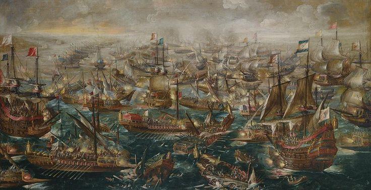 7.10.1571.The Battle of Lepanto by Andries van Eertvelt (1640)