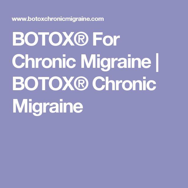 BOTOX® For Chronic Migraine | BOTOX® Chronic Migraine