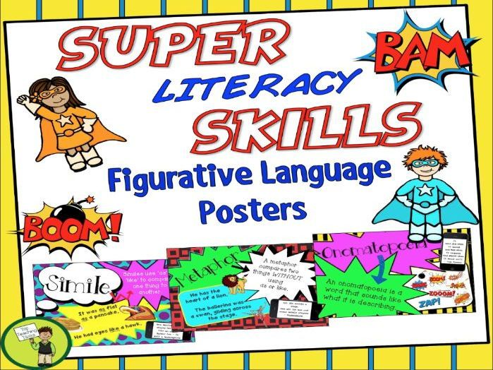 Figurative language posters help reinforce students' understanding of the various figurative language techniques, while at the same time brightening up your classroom walls and creating an engaging learning environment. <br /> <br /> *********************...