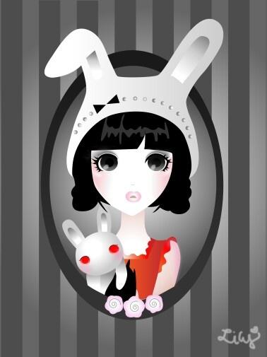 Ilustrator cs6 - My bunny girl
