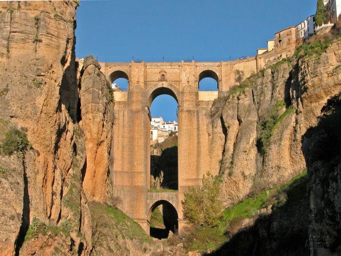 Puente Nuevo à Ronda, Málaga, Andalousie.