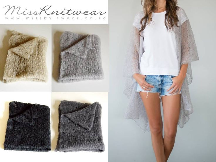 #mohair #knitted #lace cardigan Miss Knitwear 2015 pure kid mohair collection #madeincapetown #local