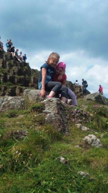My little sisters at Giant's Causeway
