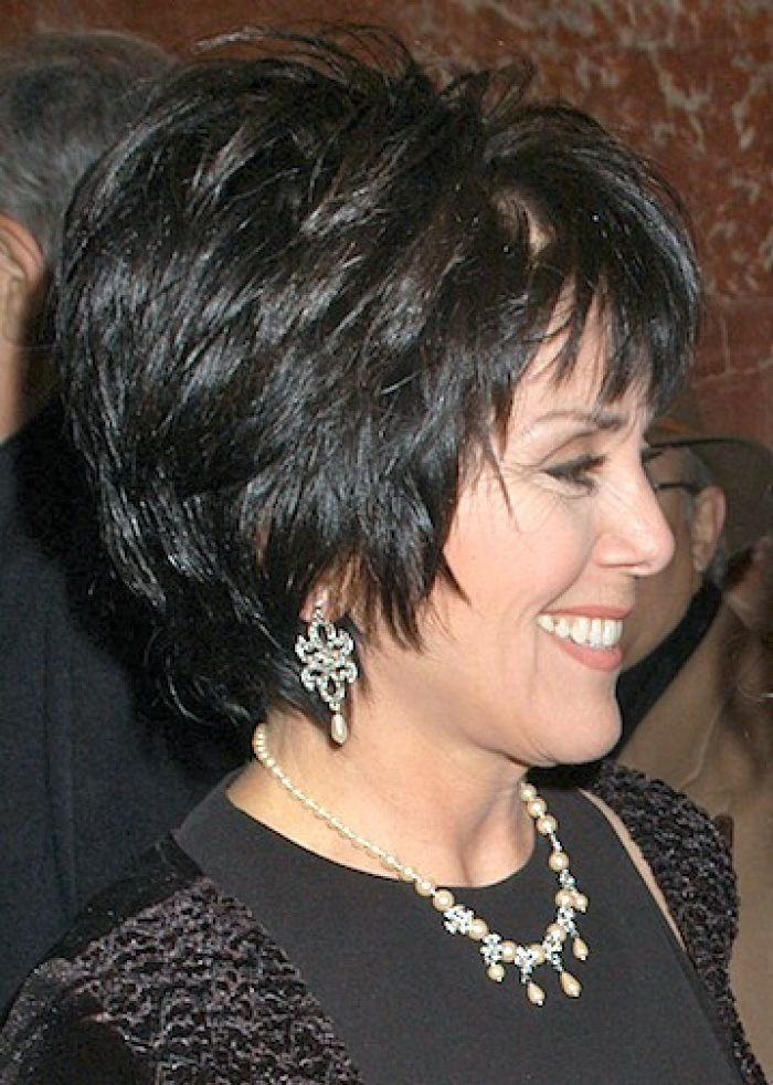 short layered hairstyle for older women