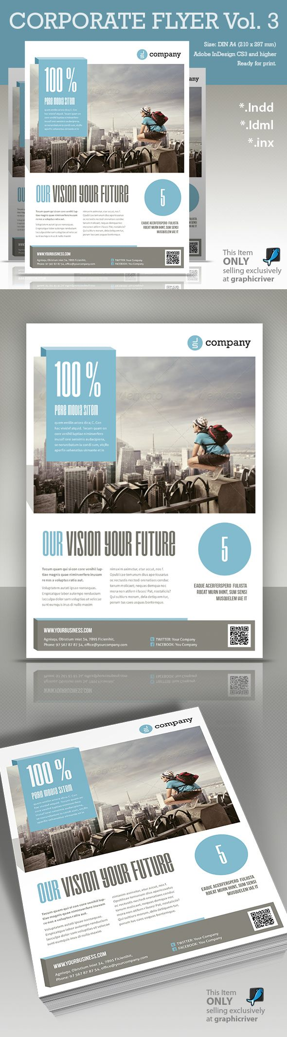 Corporate Flyer vol. 3 by Paulnomade Paulnomade, via Behance