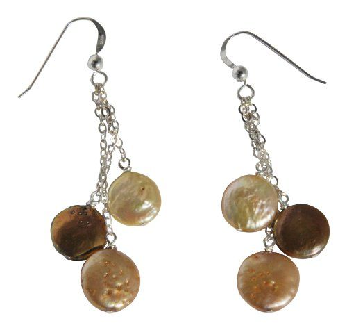 Sterling Silver Dyed Gold Freshwater Cultured Coin Pearl Earrings Blue Breeze Jewelry http://www.amazon.com/dp/B009Z6B9YG/ref=cm_sw_r_pi_dp_n.EUtb17AFWZXHQ5