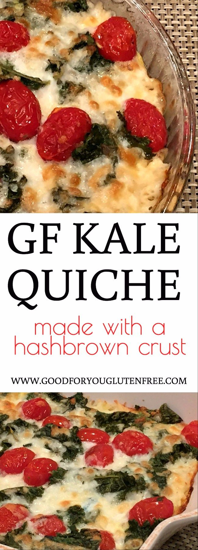 Gluten-Free Kale Quiche with Hashbrown Crust Recipe - Good For You Gluten Free