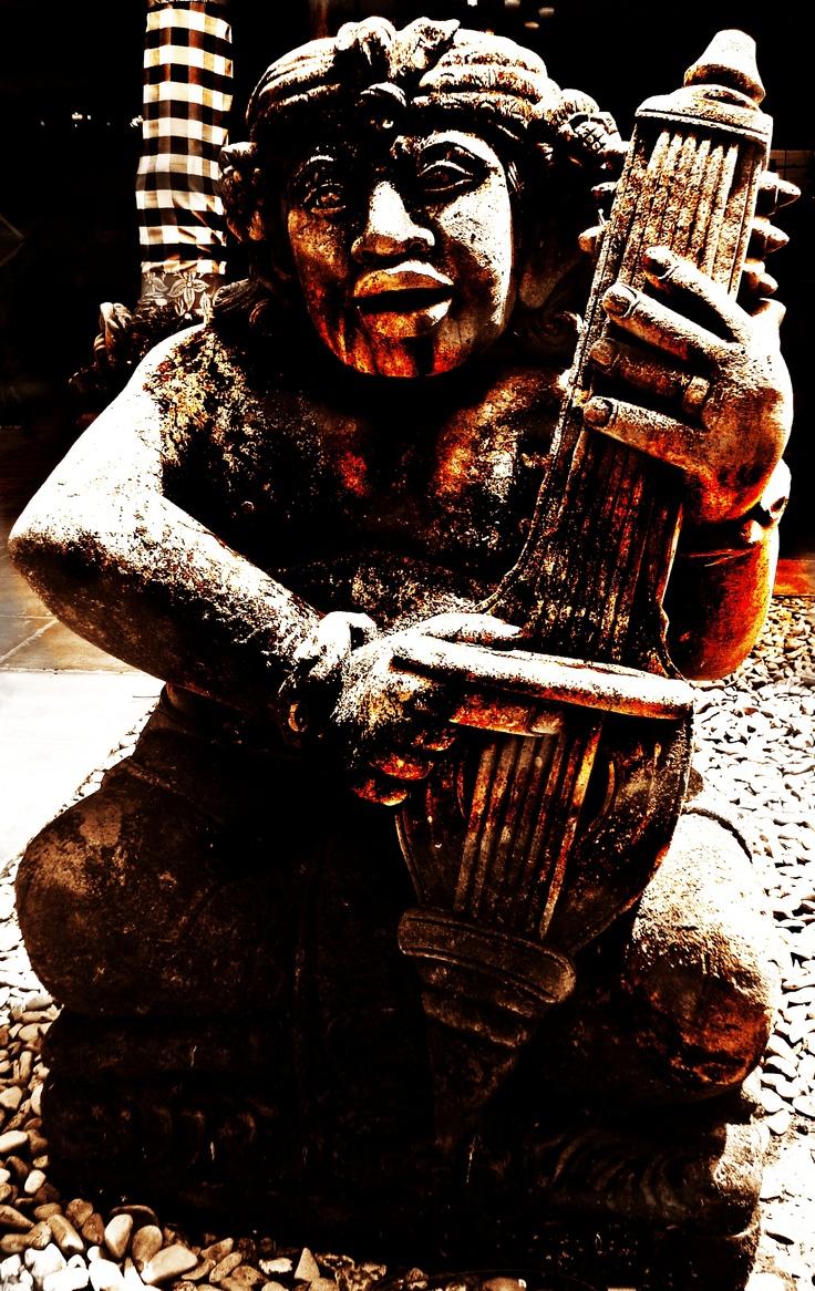 Bali Art -2. The musician statue