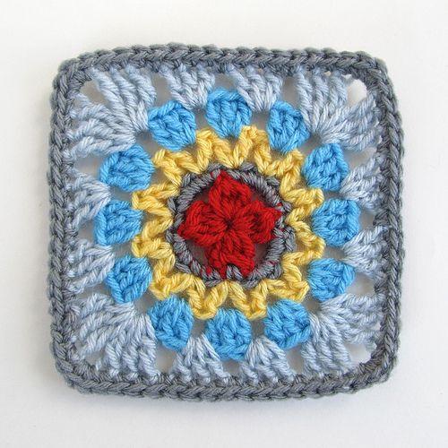 Mini Mandala Block Tutorial ~ free pattern
