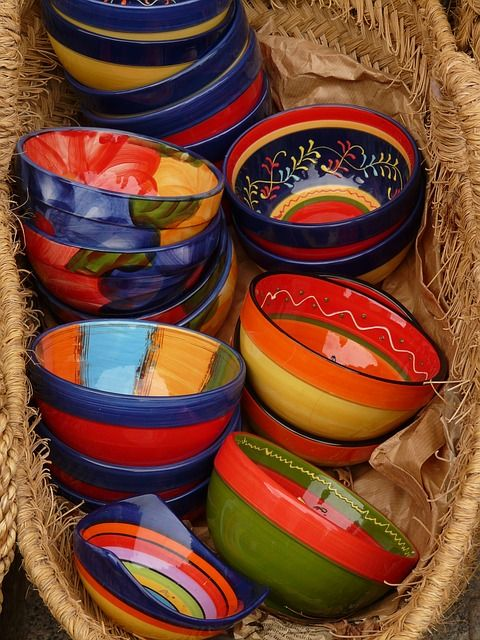 pottery, ceramic, art, colorful, color