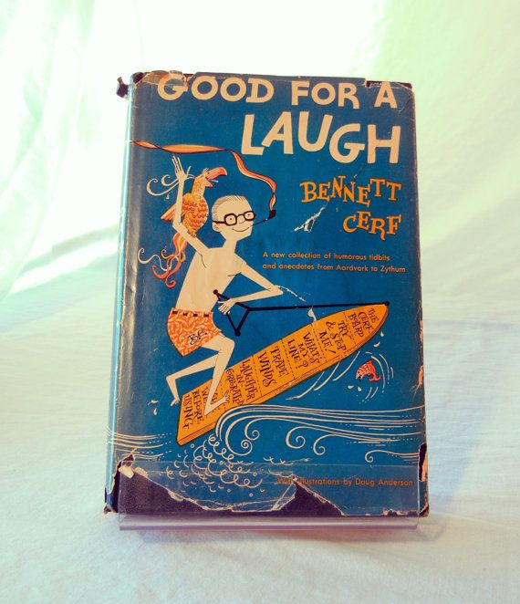Humor Book, Good for a Laugh by Bennett Cerf, Columnist, Short Jokes by Topic, 1952