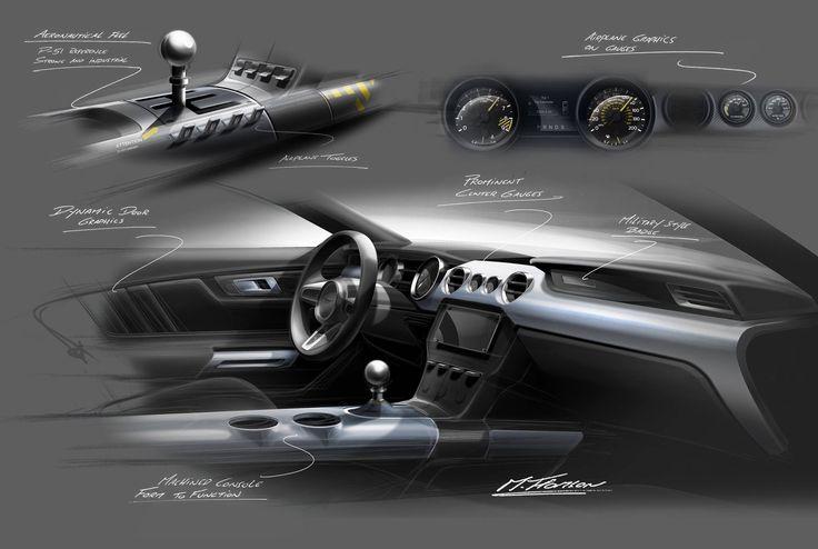 Car interior design sketching
