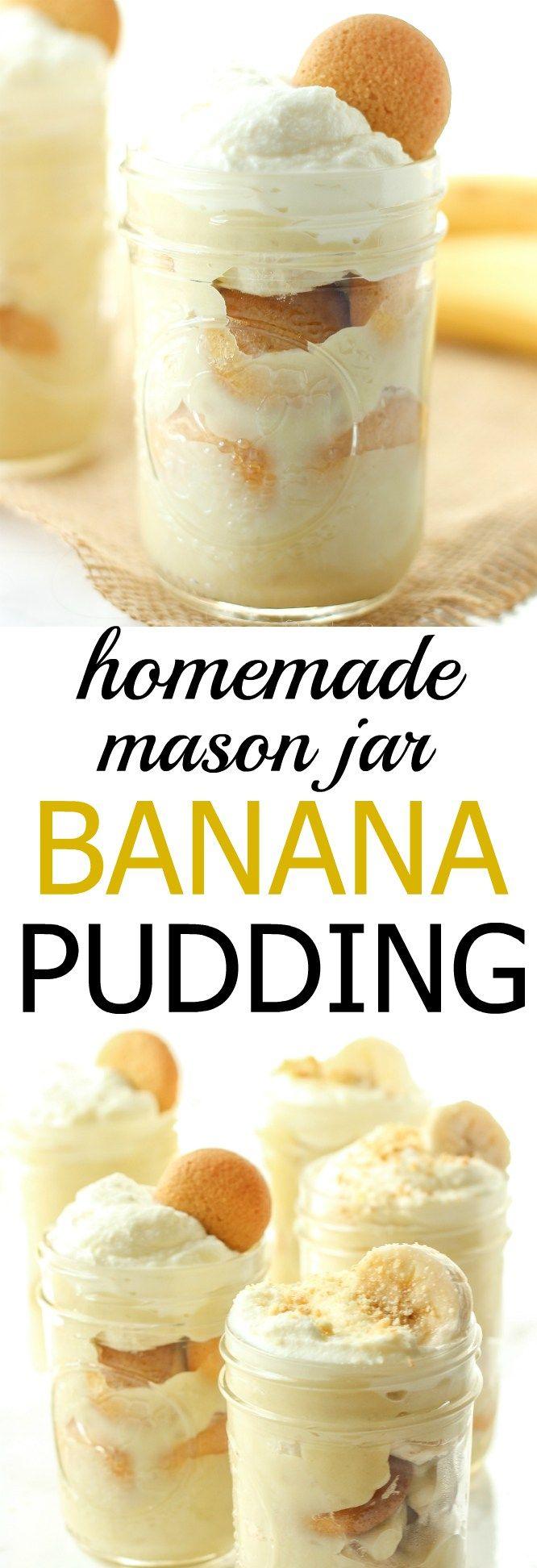 This mason jar banana pudding is 100% homemade and has all real ingredients!