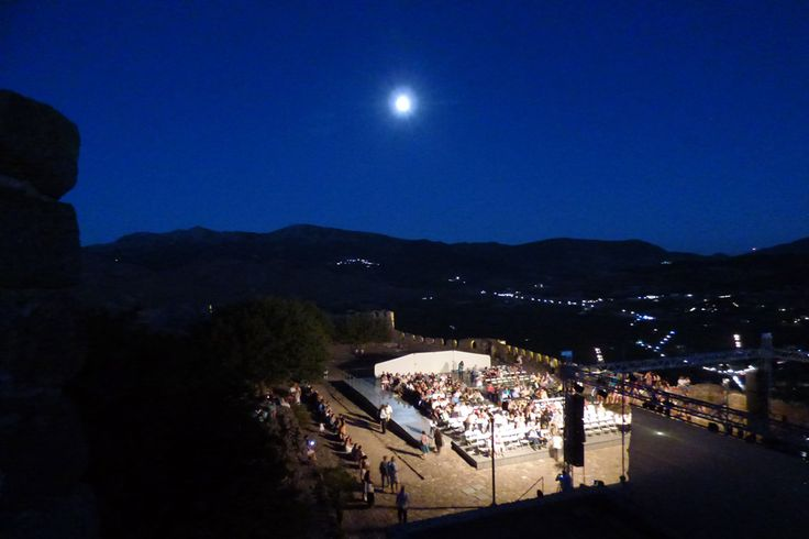Molyvos International Music Festival  Under a moonlit sky.