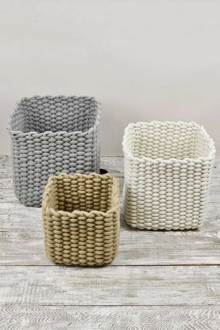 This is the perfect set of baskets for a rustic and homey