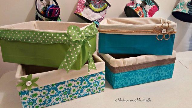 rivestiti in tessuto scatole di stoccaggio, le idee di stoccaggio, reupholster