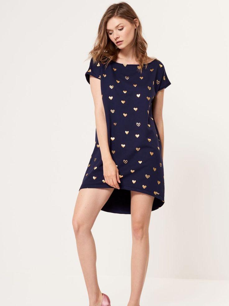 Rochie din tricot cu mânecă scurtă, MOHITO, SC727-95X
