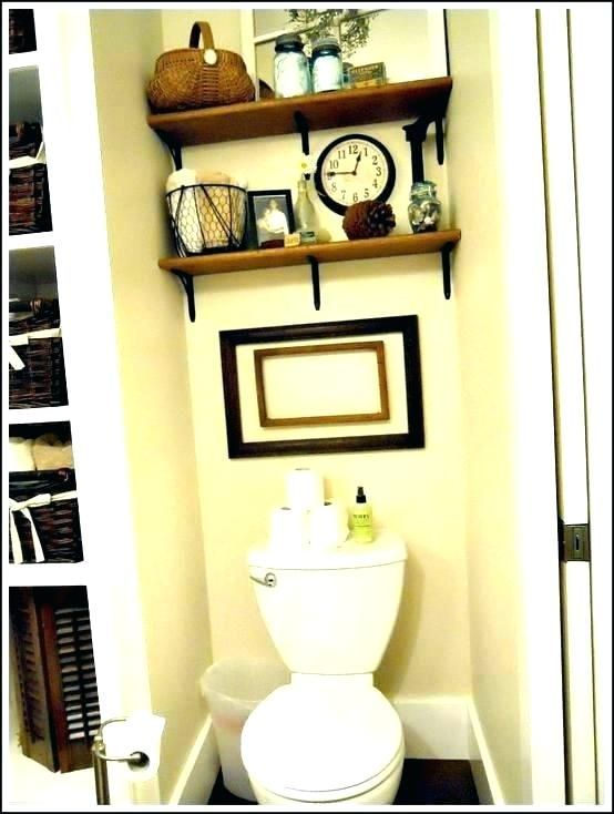 Above toilet decor shelf behind toilet decorating ideas for above   – Travel packing videos tips carry on