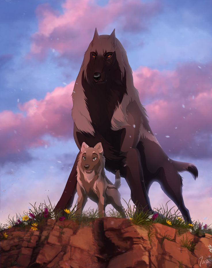 662 best anime wolves images on pinterest anime wolf - Anime wolves in love ...