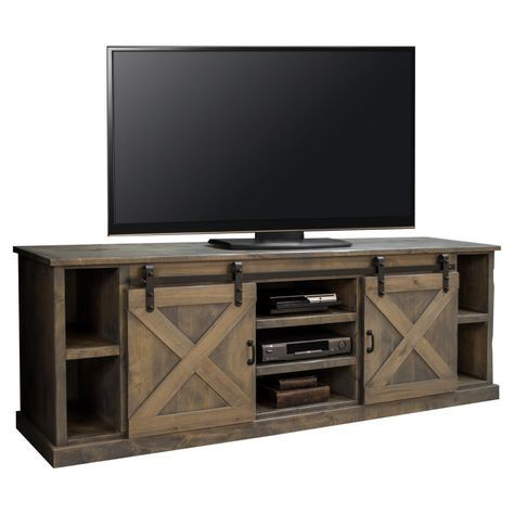 Legends Furniture Farmhouse TV Console with Optional Hutch Aged Whiskey - LEG487-1