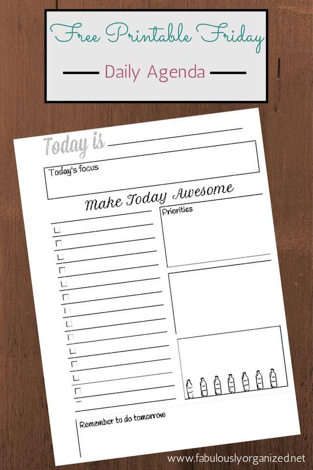 De 20+ Bästa Idéerna Om Daily Agenda På Pinterest | Daglig