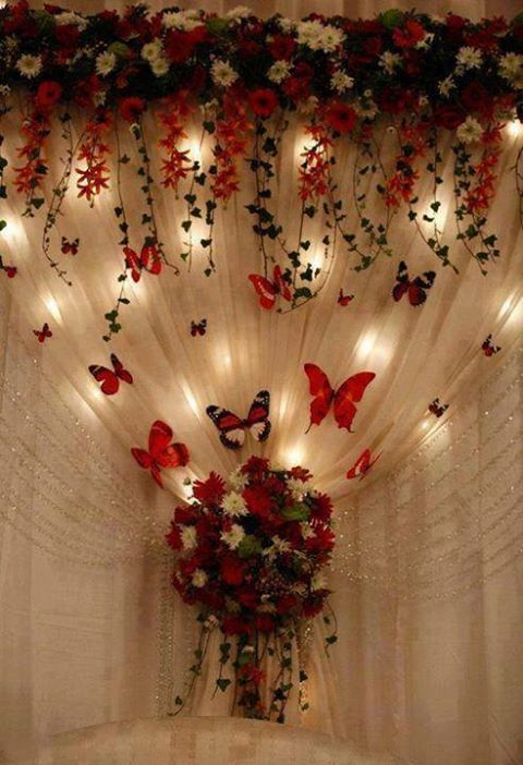43 best indian wedding images on pinterest wedding stage for Butterfly wedding