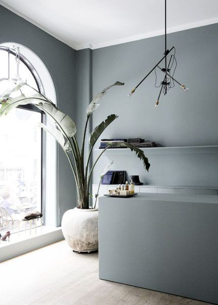 intérieur bleu-gris, couleur de l'année 2017