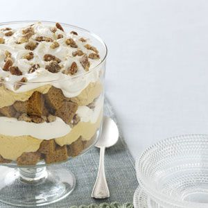 Pumpkin Mousse Trifle - There's more than one way to use a pumpkin. Instead of jack-o'-lanterns, turn your Halloween pumpkins into something decadent. This Pumpkin Mousse Trifle captures the creamy texture and spicy flavors of fall.