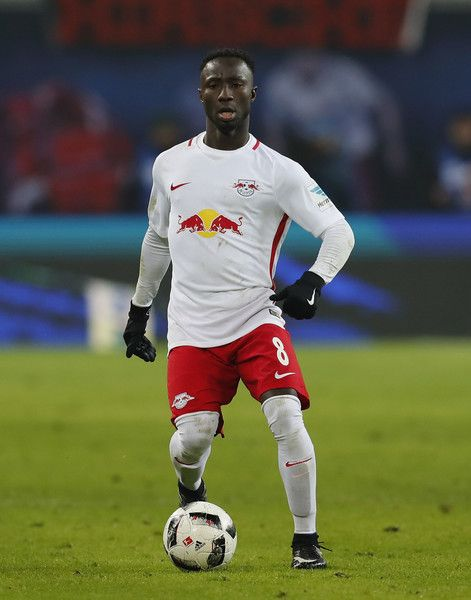 Naby Keita of RB Leipzig runs with the ball during the Bundesliga match between RB Leipzig and Eintracht Frankfurt at Red Bull Arena on January 21, 2017 in Leipzig, Germany.