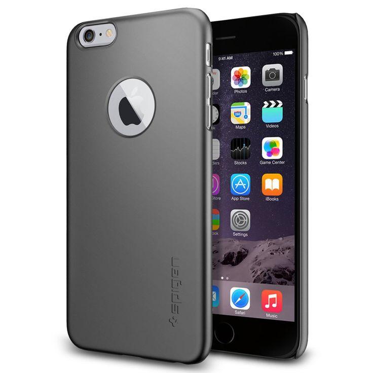 Spigen iPhone 6 Plus Case Thin Fit a Metal Slate Slightly