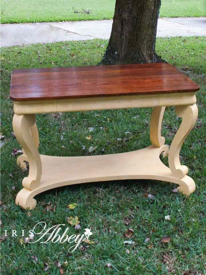 American Empire Revival Library Table http://www.irisabbey.com/the-market/try-this-painting-technique-layering/