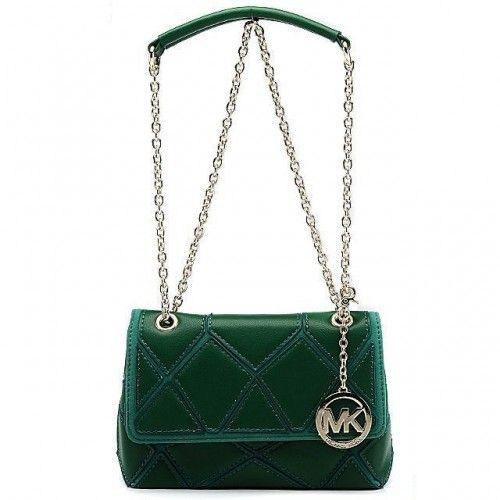 Michael Kors Sloan Large Green Shoulder Bags