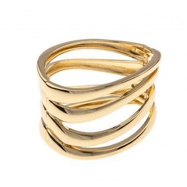 Bratara placata cu aur 14k, ovala, Loren
