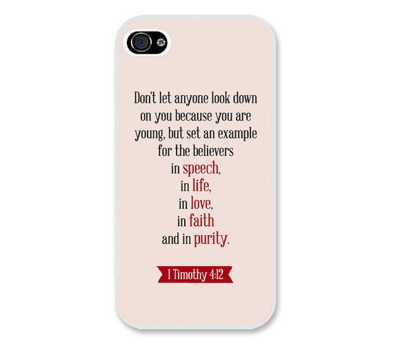 Bible Verse iPhone Case 1 Timothy 4:12 - Christian iPhone Case - Christian Bible Verse Phone Case on Etsy, $9.99