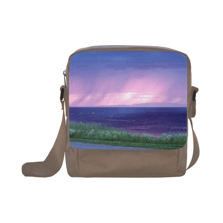 Purple Rain Crossbody Nylon Bags (Model 1633)