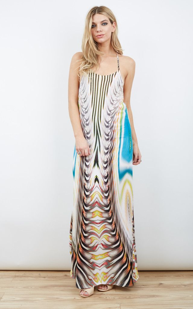 Candy Crush Printed Maxi Dress - SilkFred