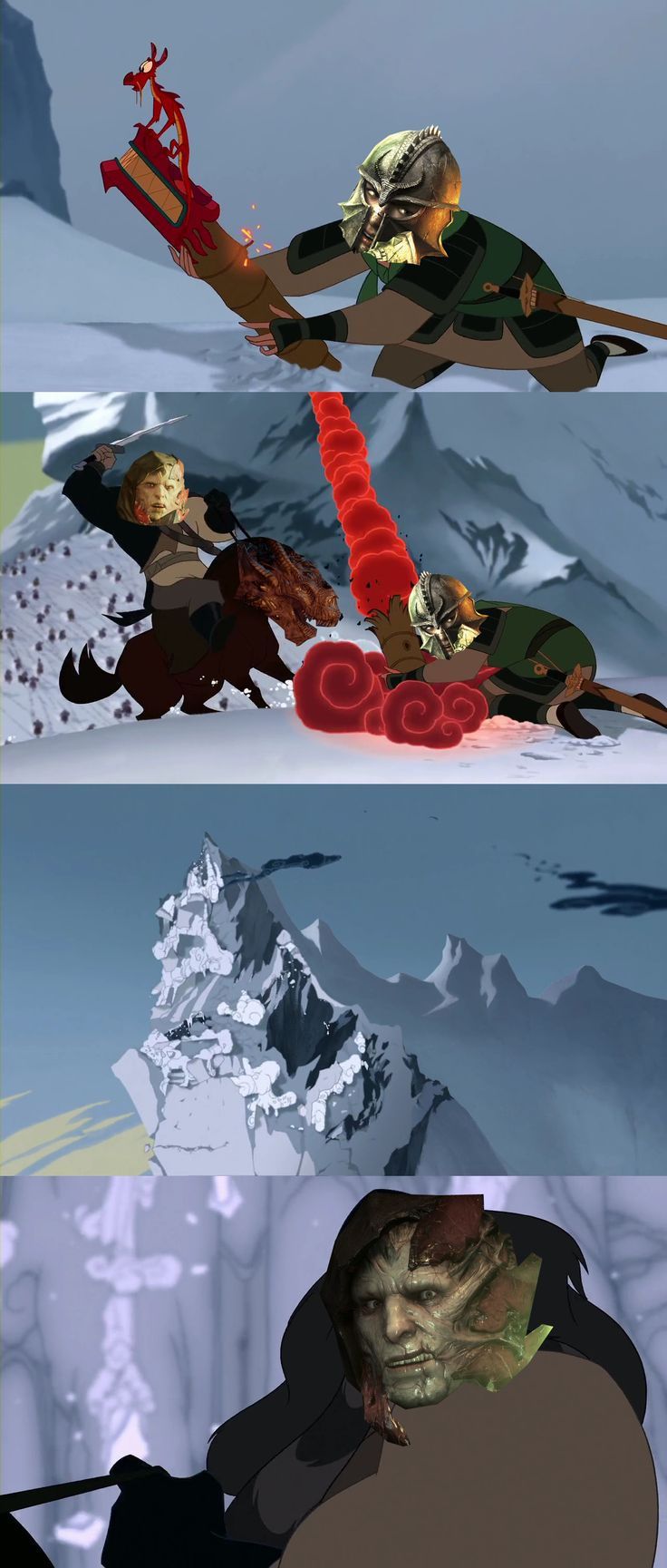 This was all I could think of when the Inquisitor started the avalanche at Haven XD Dragon Age x Mulan