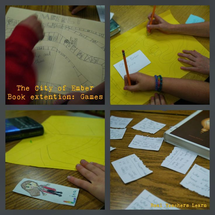 Real Teachers Learn: City of Ember extension activities and a list of FREE book menus and resources found on the web