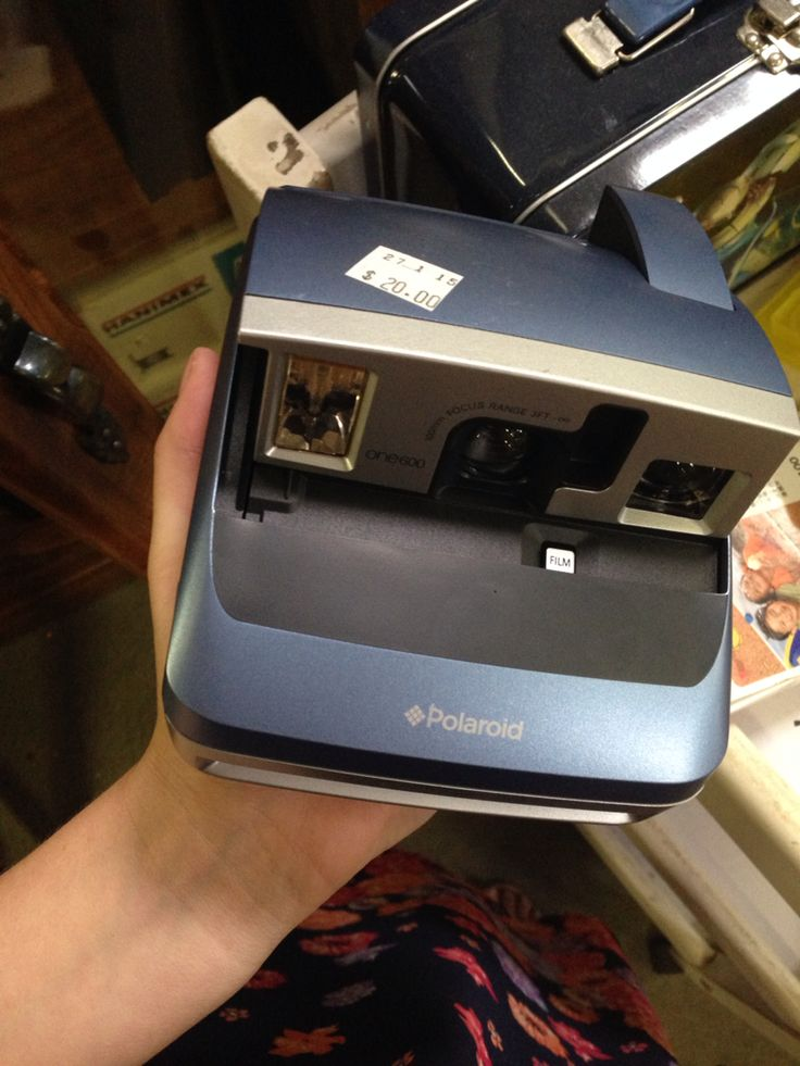 A Polaroid camera! Bought for $20 at my local lifeline op-shop!